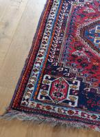 Vintage Persian Handmade Rug with a Vibrant Red & Blue Ground (6 of 8)