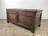 Early 19th Century Antique Oak Coffer Blanket Box (10 of 19)