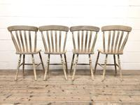 Set of Four Antique Farmhouse Dining Chairs (8 of 8)