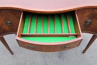 1960's Mahogany Serpentine Sideboard with Cutlery Drawer (3 of 5)