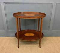 Edwardian Inlaid Mahogany 2 Tier Table (2 of 10)