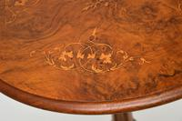 Antique Victorian Inlaid Burr Walnut Side Table (8 of 8)