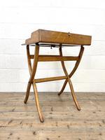 Antique Oak Folding Campaign Desk (8 of 10)