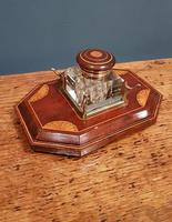 Antique Sheraton Inlaid Mahogany Pen & Ink Stand (2 of 4)