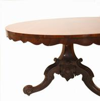Victorian Round Dining Table Rosewood Centre Tables 1860 (12 of 12)