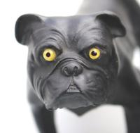 Ernest Light : A Scarce Wedgwood Black Basalt Bulldog C.1913+ (3 of 10)