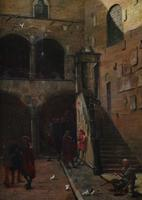 Beggar in a Continental Courtyard 17th Century (8 of 8)