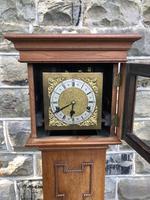 Antique Light Oak Grandmother Clock (7 of 12)