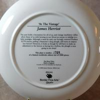 """At The Vintage"" Limited Edition James Herriot Plate (2 of 2)"