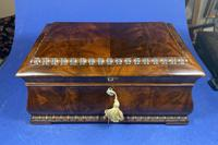 William IV Flame Mahogany Jewellery Box (17 of 20)