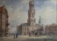 Pierre Le Boueff Pair of Watercolours - Continental Street Scenes (3 of 3)