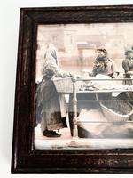 Victorian Photographic Print of Women Working at Quayside -Framed (2 of 4)