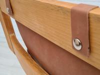 Scandinavian armchair, adjustable back, cowhide, 70s (15 of 20)