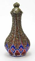 Good Biedermeier Bohemian Overlaid Glass Ewer (3 of 6)