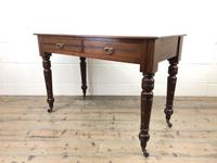 Edwardian Mahogany Two Drawer Side Table (6 of 11)