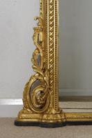 19th Century Gilt Overmantle Mirror with Putto Cresting (9 of 12)