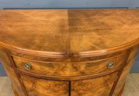 Burr Walnut Queen Anne Style Demi Lune Commode (5 of 11)