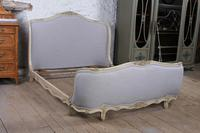 Newly Upholstered King Size  Corbeille Style Bed