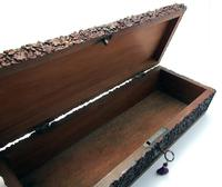 Magnificent North Indian Antique Hand Carved Sandalwood Box Wood Casket, 19th Century India c.1860 (4 of 11)