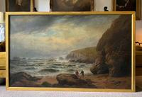 Gigantic George Henry Jenkins  19th Century Seascape Oil Painting (11 of 12)
