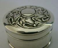 Beautiful Art Nouverau Sterling Silver Box London 1906 English Antique (4 of 6)