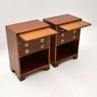 Pair of Military Campaign Style Mahogany Bedside Cabinets (3 of 9)
