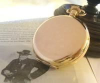 Antique Pocket Watch 1922 Swiss Vertex 7 Jewel Half Hunter 10ct Gold Filled Fwo (6 of 12)