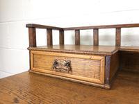 Edwardian Antique Oak Kneehole Desk (5 of 13)