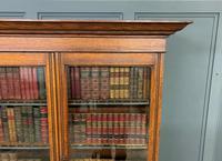 Victorian Carved Oak 3 Door Bookcase (17 of 23)