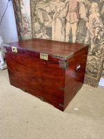 19th C Brass Bound Campaign Style Chest (5 of 8)