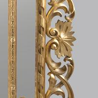 Large 19th Century Carved Giltwood Marginal Overmantle Mirror (5 of 16)