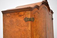 Antique Queen Anne Style Burr Walnut Cocktail Cabinet (6 of 11)