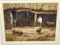"Watercolour ""Tending The Sheep"" By Bertha Rhodes RA Rca Exh 1905 -1912 (9 of 41)"