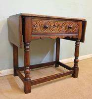 Single Drawer Oak Side Table (5 of 9)