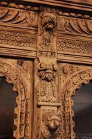 Carved Raw Oak Glazed Bookcase (15 of 21)