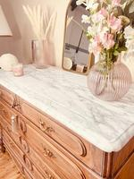 French Vintage Chest of Drawers / Antique Style Washstand / Marble Chest (8 of 9)