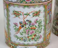 Fabulous Large Pair Chinese Famille Rose Opium Jars (11 of 12)