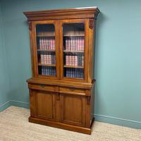 Quality Victorian Mahogany Glazed Antique Bookcase on Cupboard (2 of 9)