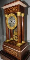 French Rosewwod Portico Clock Complete with Dome & Stand (8 of 9)