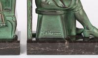 Max Le Verrier Pair Art Deco Patinated Bronze The Cobbler & The Financier Bookends (6 of 18)