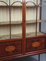 Antique Sheraton Style Inlaid Mahogany Display Cabinet (11 of 18)