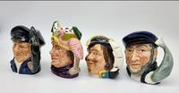 Four Small Royal Doulton Toby Jugs (6 of 16)