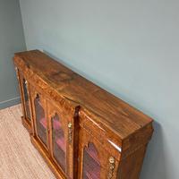 High Quality Victorian Burr Walnut Antique Credenza (9 of 10)