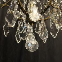 French Gilded Birdcage 11 Light Crystal Antique Chandelier (3 of 10)