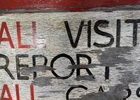 Hand Painted Prison Sign (4 of 5)