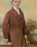 Frederick Cruickshank Fine Watercolour Portrait Painting of Gent (4 of 12)