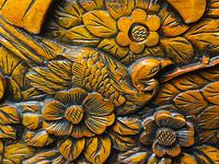 Chinese Camphor Wood Carved Birds & Flowers Chest Coffee Table (23 of 34)