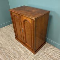 Beautifully Figured Victorian Walnut Antique Cupboard (2 of 7)