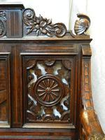 Carved Oak Settle (3 of 7)