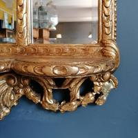 Antique Regency style triple fronted Giltwood Mirror with shelf (3 of 9)